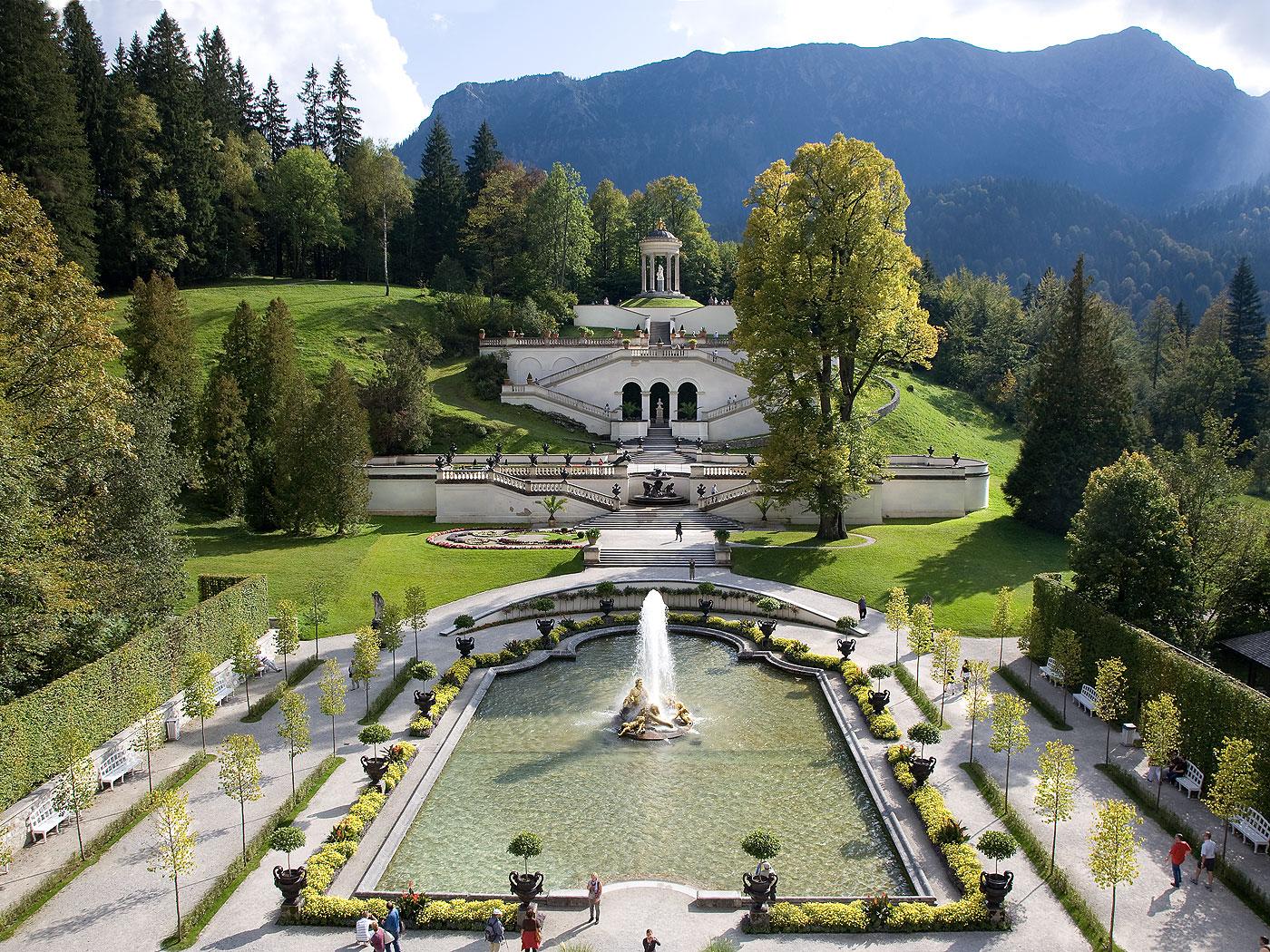 Bayerische Schlosserverwaltung Schlossanlage Linderhof Service Impressum