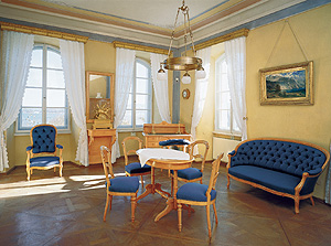 Picture: Study and living room of King Ludwig II