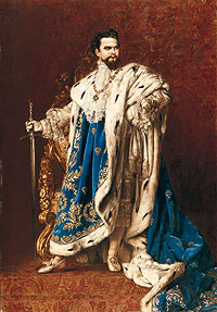 Ludwig II, painting by Gabriel Schachinger, 1887