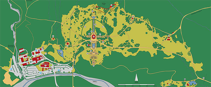 Plan of Linderhof Park
