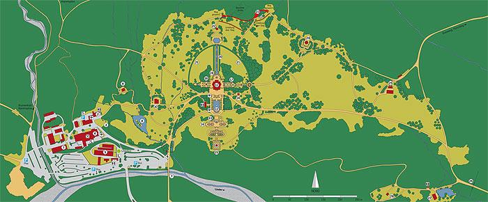 Bayerische Schlosserverwaltung Schlossanlage Linderhof Park Plan Und Rundgang