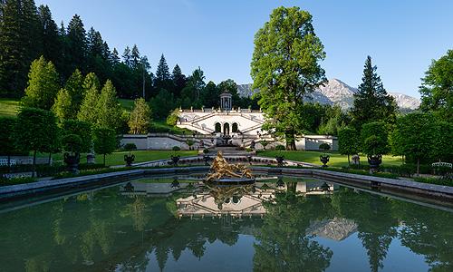 Bayerische Schlosserverwaltung Schlossanlage Linderhof Park Rundgang