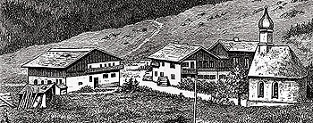 The Linderhof property, wood engraving, c.1871