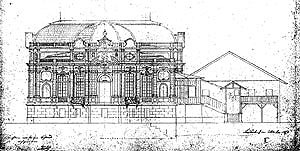 Picture: Plan for the west façade